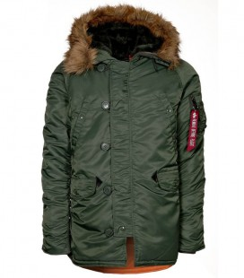N3B VF 59 PARKA DARK GREEN ALPHA INDUSTRIES