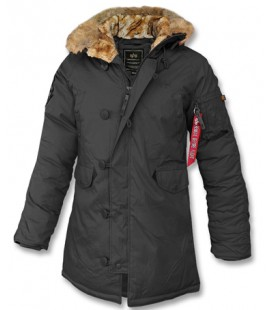 DAMES ALPHA INDUSTRIES EXPLORER PARKA ZWART