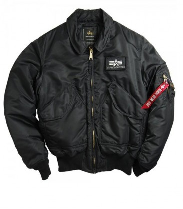 CWU 45 ZWART AUTHENTIC FLIGHT JACKET   ALPHA INDUSTRIES