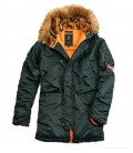 ALPHA INDUSTRIES N3B VF 59 PARKA DARK PETROL