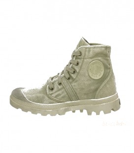 PALLADIUM PALLABROUSE CANVAS SCHOEN KHAKI PUTTY