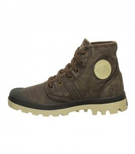 PALLADIUM PALLABROUSE CANVAS SCHOEN CHOCOLATE PUTTY
