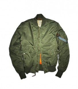 MA1 VF SLIMVIT WOMENS SAGE ALPHA INDUSTRIES  BOMBER FLIGHT JACKET