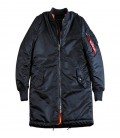 MA 1 LONG COAT REP BLUE  ALPHA INDUSTRIES