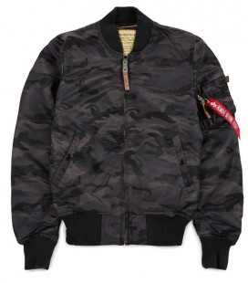 MA1 VF-59  BLACK CAMO SLIMVIT MENS FLIGHT/BOMBER JACKET ALPHA INDUSTRIES