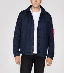 AUTHENTIC UTILITY CUSTOM JACKET ALPHA INDUSTRIES  REP BLUE