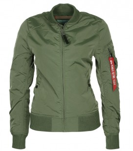 WOMANS  MA - 1 TT SAGE ALPHA INDUSTRIES  ZOMER /FLIGHT JACKET/BOMBER