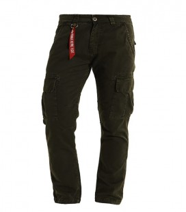 CARGO PANTS AGENT ALPHA INDUSTRIES DONKERGROEN