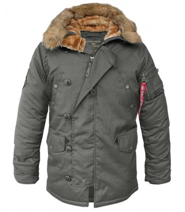 Winterjas Parka Heren.Alpha Industries Explorer Parka Rep Grey