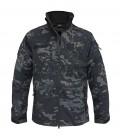 Mil-Tec Softshell SCU 14 Military Combat Mens Jacket Hooded black camo