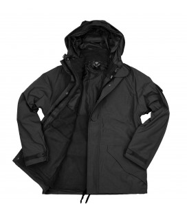PARKA COLD WEATHER  ZWART 3 IN 1  ADEMNED  WATERPROOF