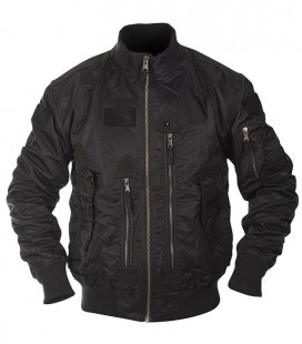 US TACTICAL  FLIGHT JACKET ZWART