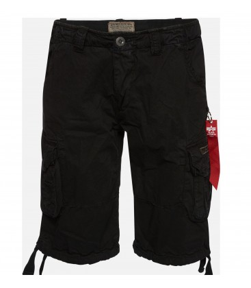 JET SHORT BLACK ALPHA INDUSTRIES 100 % KATOEN