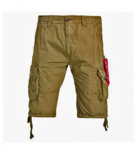 JETSHORT LIGHT OLIVE ALPHA INDUSTRIES 100 % KATOEN