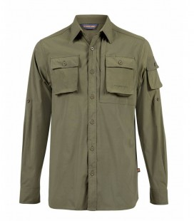INSECTENWEREND OVERHEMD LANGE MOUWEN   ARMY GREEN