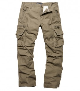 RICO CASUAL CARGO BROEK /TRAVEL BROEK  OLIVE