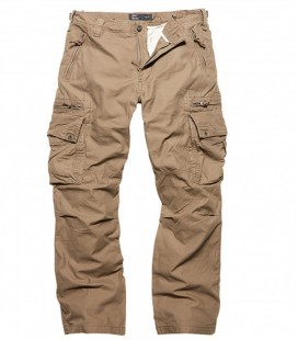 RICO CASUAL CARGO BROEK/ TRAVEL BROEK DARK KAKI
