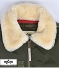 INJECTOR III JACKET DARK GREEN ALPHA INDUSTRIES  SHEEP FUR