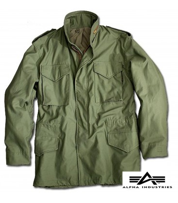 M-65 ORIGINELE  FIELD COAT ALPHA INDUSTRIES OLIVE
