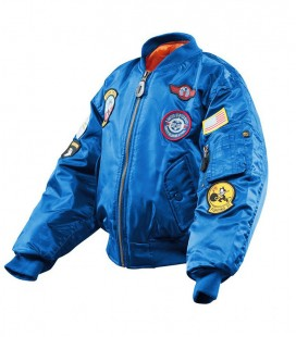 KINDER FLIGHTJACKET(BOMBER) ROYAL BLUE