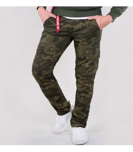 CARGO PANTS AGENT ALPHA INDUSTRIES OLIVE CAMO
