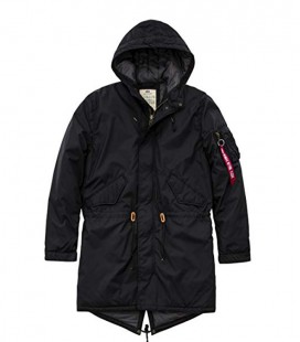HOODED FISHTAIL CW TT ALPHA INDUSTRIES ZWART