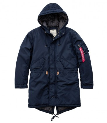 HOODED FISHTAIL CW TT ALPHA INDUSTRIES  REP BLUE