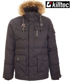 BUKANO  CASUAL JACKET ZWART AFNEEMBARE CAPAUCHON KILLTEC  DOWN OPTIC