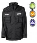 SECURITY PARKA ZWART  VIER IN EEN winter jacket