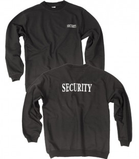 SECURITY SWEATSHIRT  MET OPDRUK