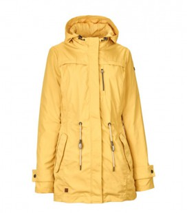 GRANIA CASUAL JACKET MET AFKOOPBARE CAPUCHON BURNED YELLO