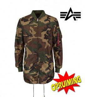 MA 1 TT LONG COAT WOODLAND CAMO ALPHA INDUSTRIES