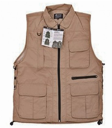 REPORTERVEST TEN POCKETS BEIGE