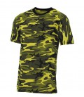 US T-SHIRT  STREETSTYLE YELLOW-CAMO