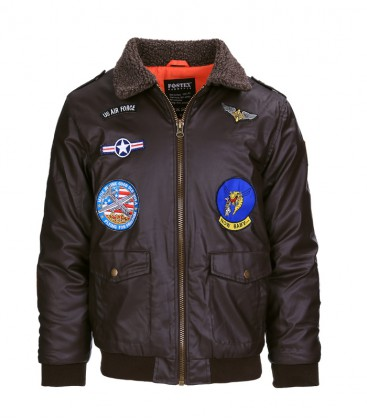 KINDER FLIGHT JACKET  PU LEDER
