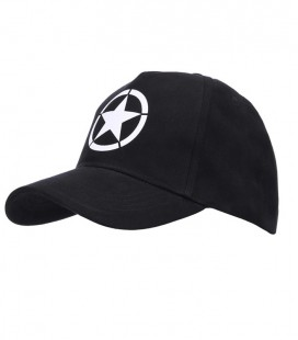 BASEBALL CAP ALLIED STAR ZWART
