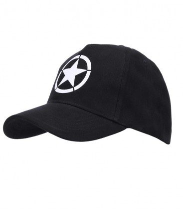 BASEBALL CAP ALLIED STAR ZWART