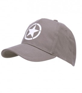 BASEBALL CAP ALLIED STAR GRIJS