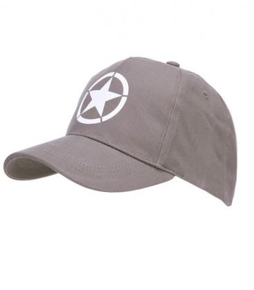 BASEBALL CAP ALLIED STAR GRIJS