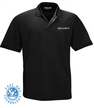 SECURITY POLO SHIRT QUICK DRY ZWART