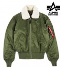 B15 FLIGHTJACKET GROEN ALPHAINDUSTRIES