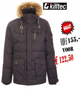BUKANO  CASUAL JACKET ZWART HEREN WINTER  AFNEEMBARE CAPAUCHON KILLTEC  DOWN OPTIC