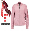 WOMANS  MA - 1 TT  SILVER PINK ALPHA INDUSTRIES  ZOMER /FLIGHT JACKET/BOMBER