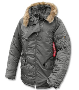ALPHA GENUINE N3B PARKA GUNMETAL