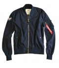 ALPHA INDUSTRIES GROUND CREW JACKET BOMBER MA 1 KATOEN NAVY
