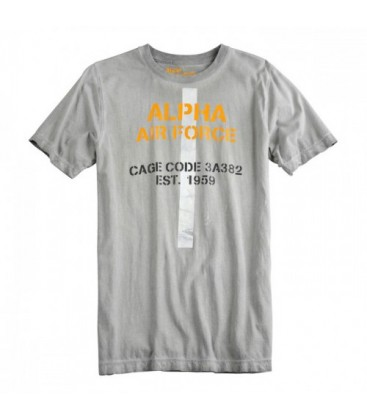 ALPHA INDUSTRIES AAF T T SHIRT GREY