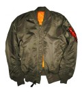 MA1 REP GREY FLIGHT/BOMBER JACKET ALPHA INDUSTRIES