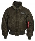CWU 45  REP. GREY  AUTHENTIC  FLIGHT JACKET ALPHA INDUSTRIES