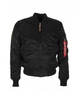 MA1 VF 59  WMS SLIMVIT FLIGHT JACKET /BOMBER ALPHA INDUSTRIES ZWART