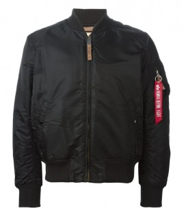 MA1 VF-59 SLIMVIT MENS FLIGHT/BOMBER JACKET ZWART